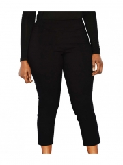 Alladin-Classic Pull on Capri Pants black 14