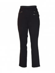 Alladin-Black Pull On Womens Pants black 8