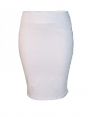 Alladin-White Pencil Skirt white 12