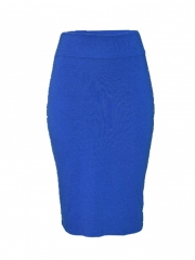 Blue Studded Tube Skirt blue m