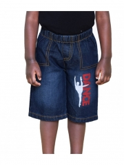 Alladin-Black Denim Kids Toddler  Boys & Girls Cartoon Dance shorts black denim 2t