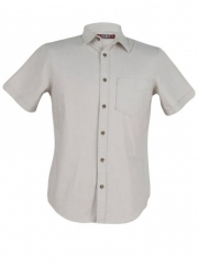 Alladin-Silver Birch Short Sleeve Men's Slim Fit Shirt silver birch s