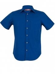 Alladin-Royal Blue Short Sleeve Men's Slim Fit Shirt royal blue xl