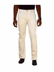 Alladin-White Straight Men's Denim Jeans white 30