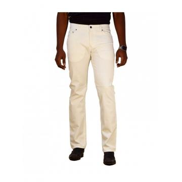 White Straight Men's Denim Jeans white 32