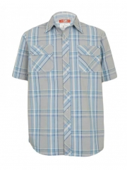 Alladin-Grey Checked Mens Shirt checked s