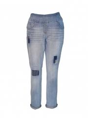Alladin-Light Blue Womens Pull on Pant light blue 12
