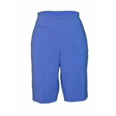 Alladin-Blue -Ladies Woven Bermuda Short blue 8