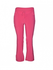 Alladin-Straight Leg Drawstring kinga Pants pink