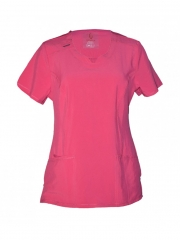 Alladin-Medical Uniform Round Neck Top Pink