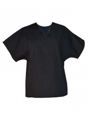 Alladin-Black Unisex V Neck Top Workwear black s