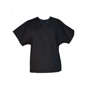 Alladin-Black Unisex V Neck Top Workwear black s
