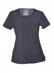 Alladin-Pewter Grey Medical Uniform Round Neck Top Pewter Grey s