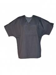 Alladin-Unisex V Neck Top Work Wear grey s
