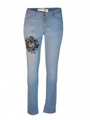 Alladin-Light Blue Womens Skinny Pant light blue 1
