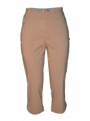 Alladin-Beige Womens Capri Pants Beige 10