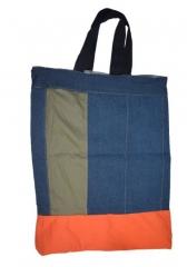 Alladin-Medium Grocery/Shopping Bag dark blue 16.5 by 14.5