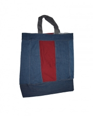 Medium Grocery/Shopping Bag maroon and dark blue 20.5 by 17.5