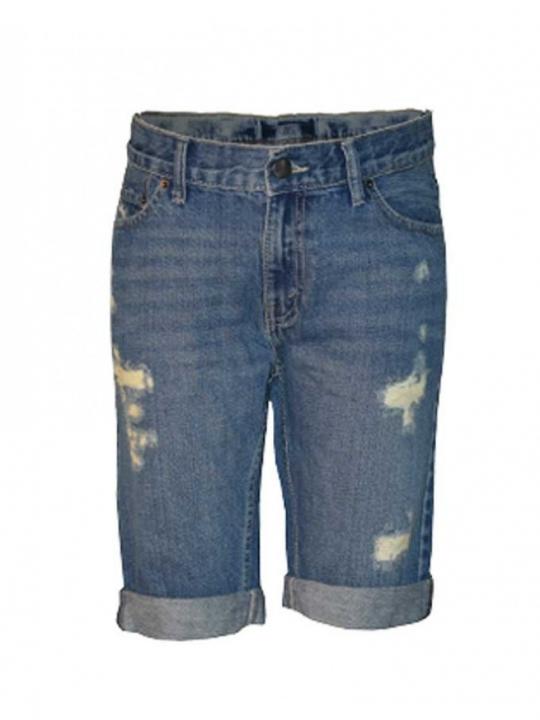 Alladin-Summer-fit cutoff ripped short blue denim 8