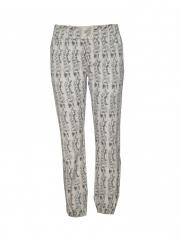 Alladin-Beige Printed Jogger Pants beige s