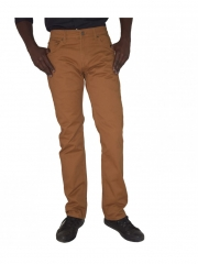 Alladin-Straight Fit twill Pants brown 10
