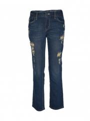 Alladin-Blue Destroyed Boys Denim Jeans blue 8