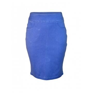 Blue Pencil Skirt Hawain Blue 8