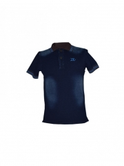 Alladin-Blue Mens Denim Polo Shirt blue s