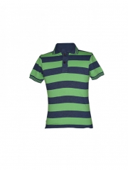 Alladin-Green Stripped Mens Polo Shirt green stripped s cotton