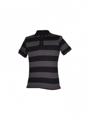 Alladin-Brown Stripped Mens Polo Shirt brown stripped s