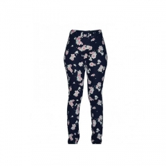 Alladin-Navy Flowered Women's Skinny Pants navy flowered 6