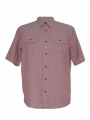 Alladin-Rouge Pink Mens Short Sleeved Shirt Rouge pink L
