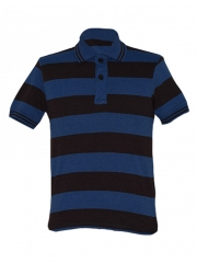 Alladin-Brown/ Blue Stripped Mens Polo Shirt brown/blue s