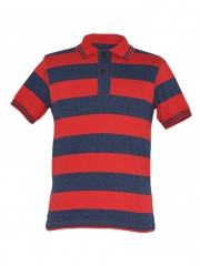 Alladin-Red/ Navy Stripped Mens Polo Shirt red/navy s