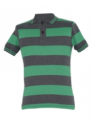 Alladin-Green/ Grey Stripped Polo Shirt green/grey striped s