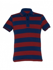 Alladin-Blue/ Red Stripped Mens Polo Shirt blue/red stripped s