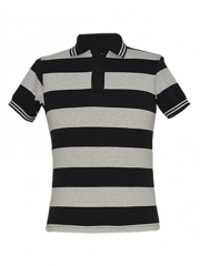 Alladin-Light Grey Stripped Mens Polo Shirt light/grey stripped s