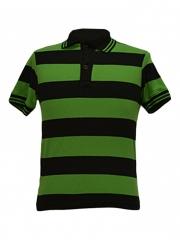 Alladin-Green/ Black Stripped Polo Shirt green/black stripped s
