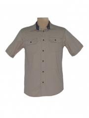 Alladin-Beige- Men's Short Sleeved Shirt beige m