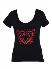 Black Printed Womens Top black printed s