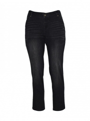 Alladin-Black Womens Skinny Pants black shiny 10