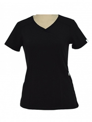Alladin-Black V Neck Medical Uniform black s