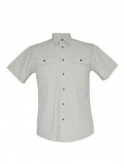 Alladin-Silver Birch Mens Short Sleeved Shirt silver birch, s