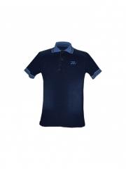 Alladin-Blue Mens Denim Polo Shirt blue denim polo s
