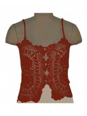 Alladin-Orange Straps Crochet Top orange straps s