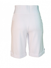 Alladin-White -Ladies Slims Short white l
