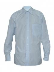 Alladin-Pale Blue Checked Men's Shirt pale blue 36