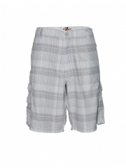 Alladin-White Checked Mens Short white checked 34
