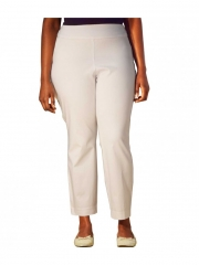Straight Leg Pull On Classic Pant white 18