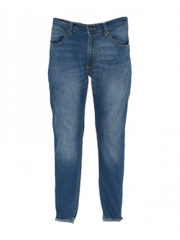 Alladin-Light Blue Mens Pant With Ripped Hem light blue 32